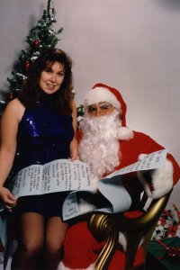 K. S. Brooks with Santa