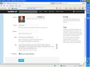 Twitter Profile Screen