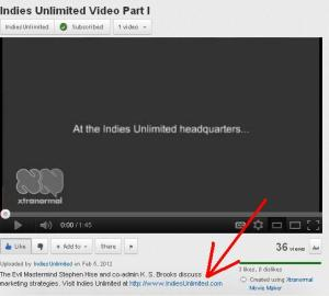 Indies Unlimited Video Part I