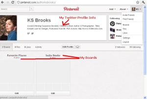 Pinterest profile for KSBrooks
