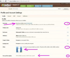 Set up your Shelfari Profile