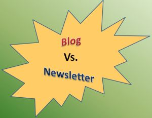 difference between blogs and newsletters