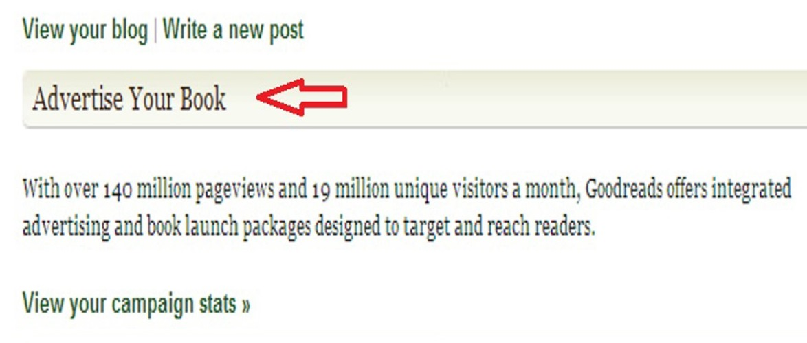 goodreads advertise your book