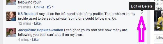 facebook edit comment
