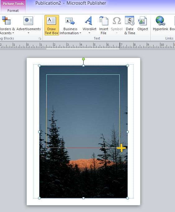 publisher draw text box