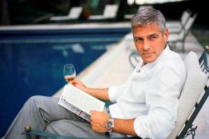 George Clooney Reading