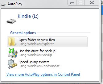 open files from a kindle with calibre