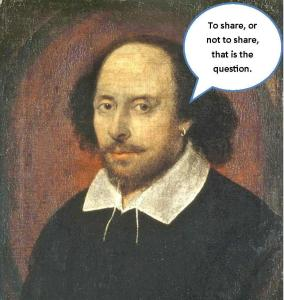 shakespeare wants to know if we should share sales numbers