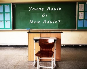 young adult or new adult on blackboard