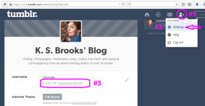 Find your Tumblr blog URL