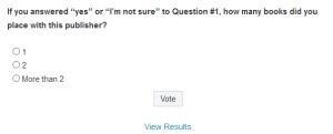 NOT VOTED #PublishingFoul Survey