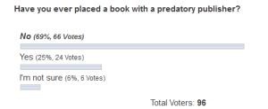VOTED #PublisherFoul survey