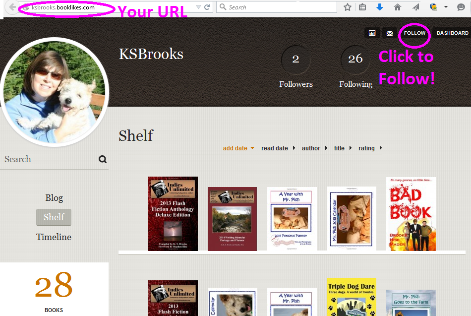 booklikes shelf page