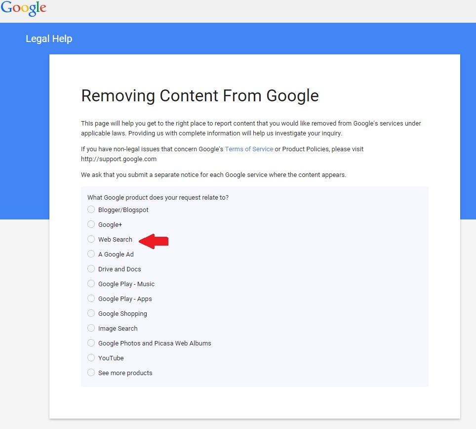 removing content from Google Image #1