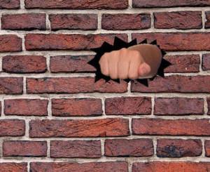 breaking the fourth wall brickwall-fist3