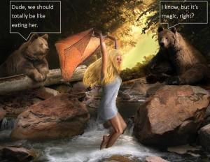 magic bears suspend reader disbelief