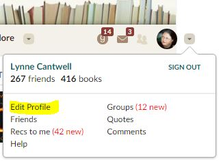Edit your goodreads profile
