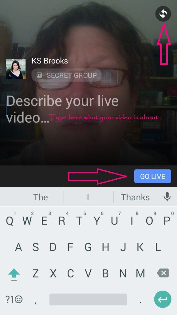 how to make your facebook page go live