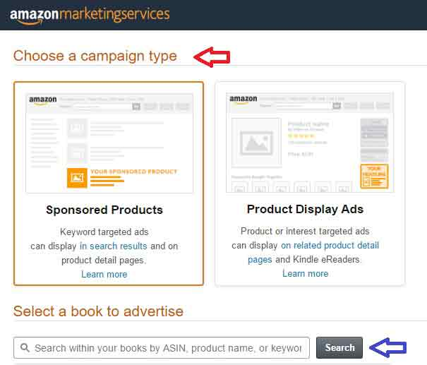 Amazon Advertising Campaign-type
