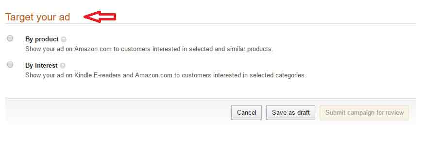 Amazon Marketing ad Product-set-up-1-targeting-