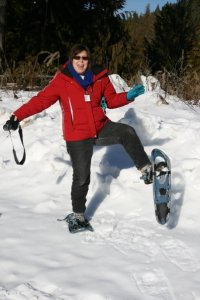 K. S. Brooks on Snow Shoes