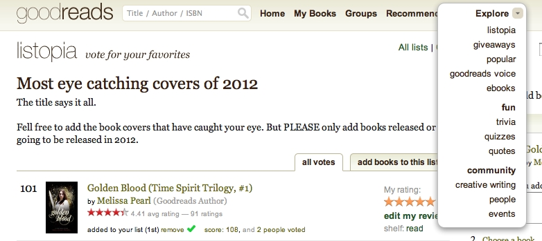 Goodreads EXPLORE!