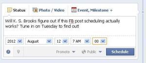 Schedule that Facebook Post