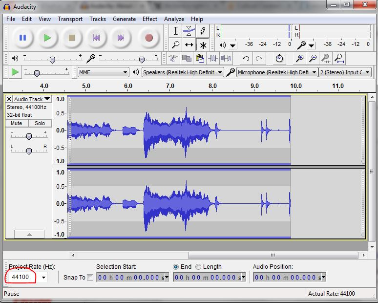 how to download youre audacity project as mp3