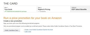 Kindle Countdown Deal page