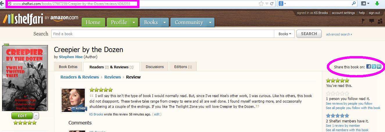 shelfari reviews 2
