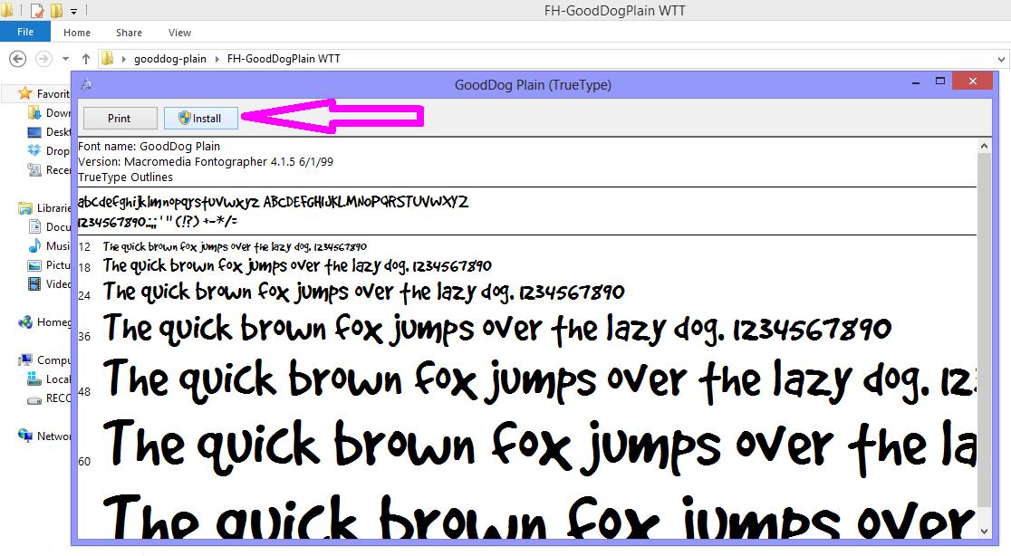 font install