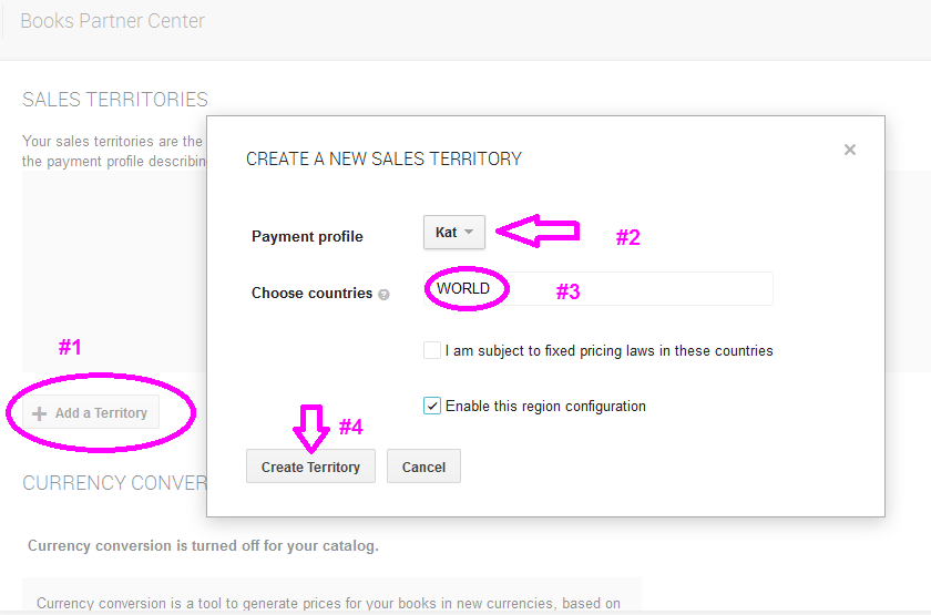 Google Play Sales Territory