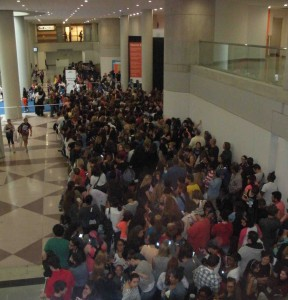 Only a small portion of BookCon attendees lined up to catch a glimpse of YA author John Green.
