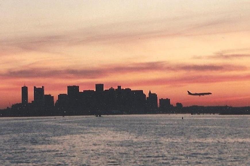 boston harbor sunset copyright ksbrooks 1997
