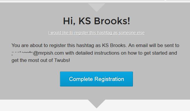 twubs complete registration