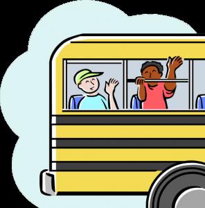 kids on schoolbus