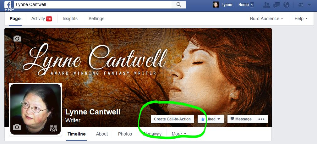 Facebook Call to Action button 1
