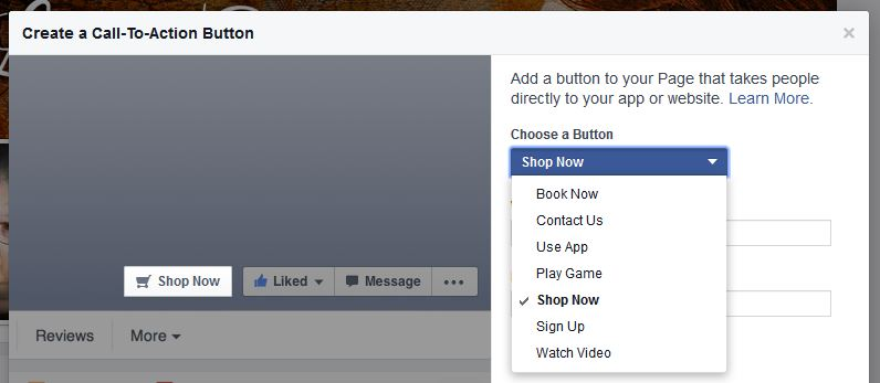 Tutorial for Facebook Call to Action button 2