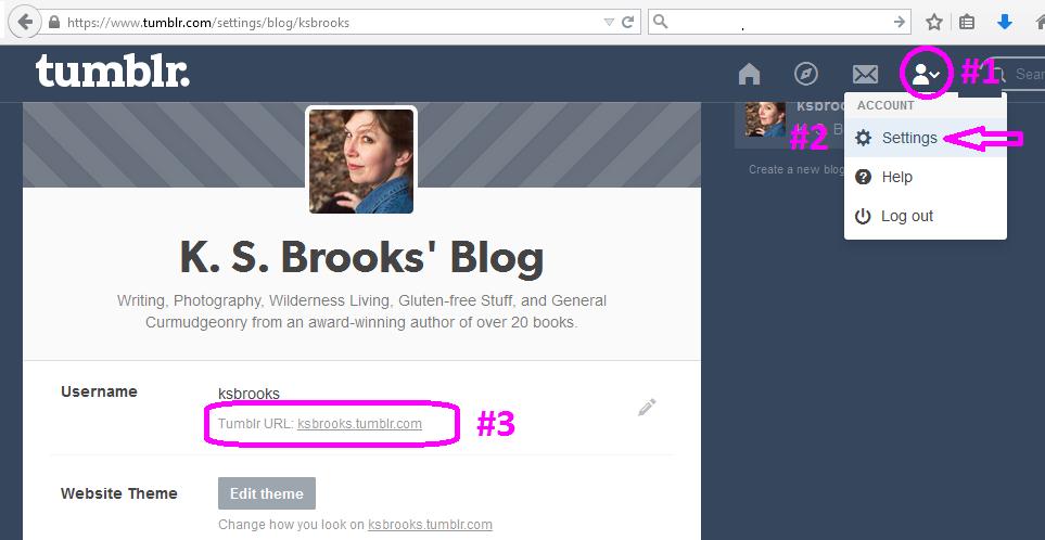 tumblr how to change your username