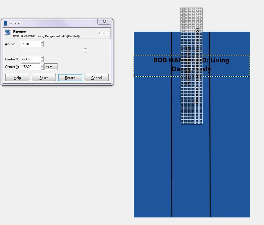 GIMP 5 rotating a text box