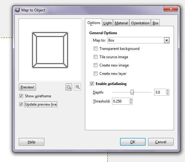 GIMP 6 map to object