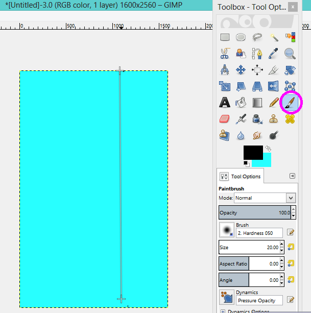 GIMP making straight lines