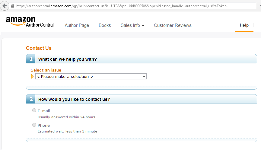 author central contact form for making a book perma-free