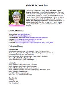 Media Kit for Author Laurie Boris