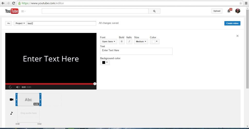 2_entertext Youtube video editor