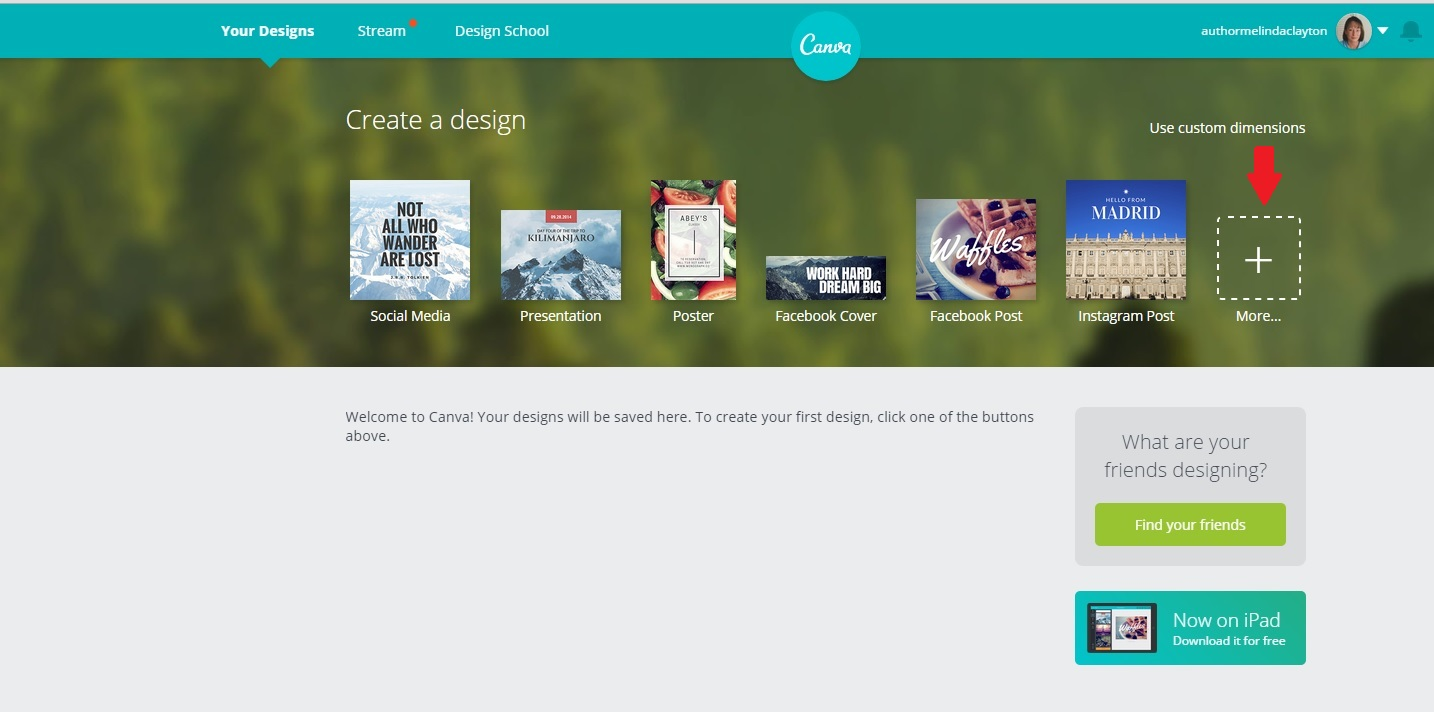 Canva MORE button