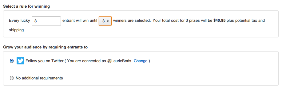 amazon lucky winner selection