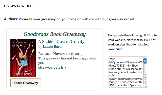 Goodreads Book Giveaway ScreenShot4