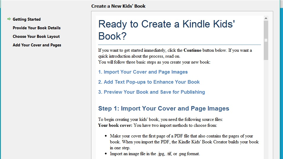 Kindle Kids' Book Creator create a kids book