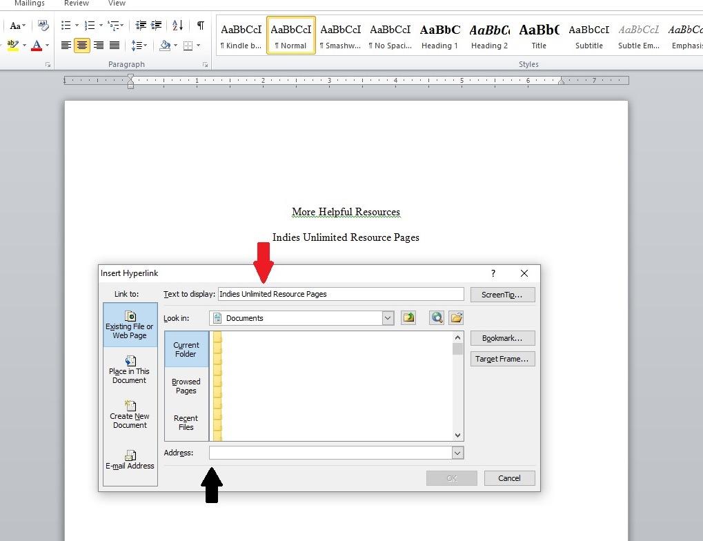 Format adding hyperlinks to ebooks 4